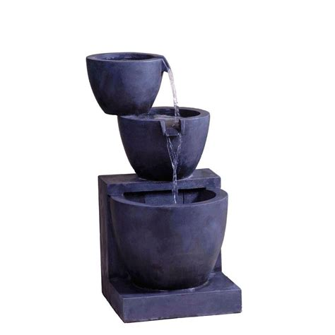 bowls indoor fountain cellar modern tier bowls indoor outdoor water fountain fcl064 the home depot