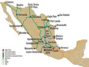 Union Pacific Railroad Map Mexico