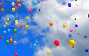 Balloons Party In The Sky HD Wallpaper