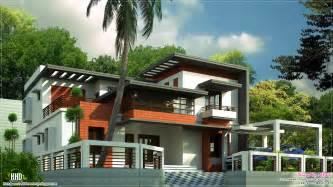 modern house plan 3400 sq contemporary home design kerala home