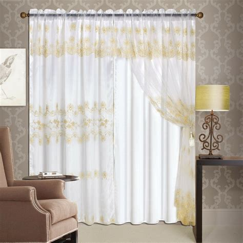 luxury lined curtain drapes set sheer window treatment 2