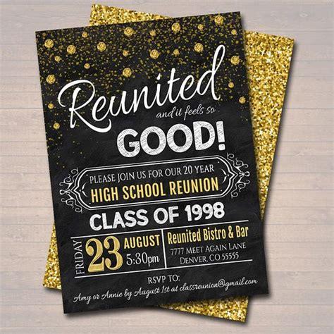 editable class reunion invitation template  year
