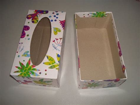 tissue box craft storage     recycled box