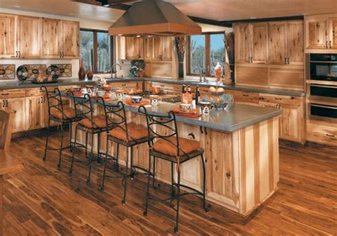 rustic hickory cabinets ideas  pinterest