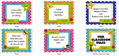 classroom rules template instructional materials our classroom rules poster