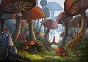Mushroom Forest Wallpaper
