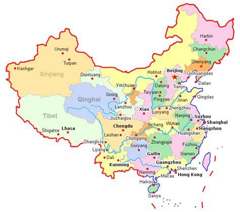 china map  cities travelsfinderscom