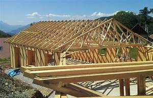 Construction d'une maison en ossature bois Rhône Toitures