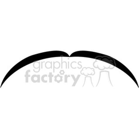 royalty  thin black mustache  vector clip art