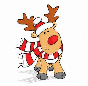 Drawn reindeer xma - Pencil and in color drawn reindeer xma