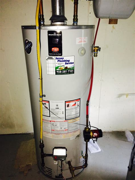 Jersey Plumbing by Installed Bradford White High Efficient Gas Water Heater