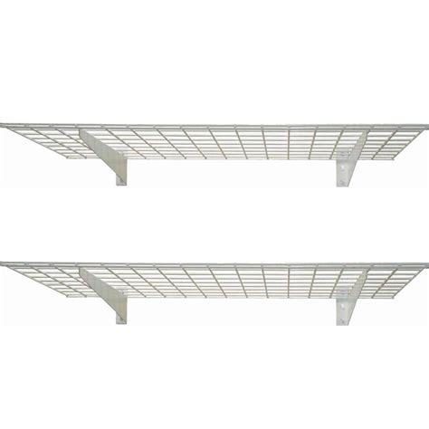 hyloft heavy duty ceiling storage unit hyloft 2 shelf 45 in w wire garage wall storage system in