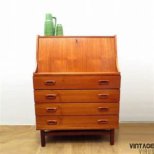 Bureau Secretaire Vintage : vintage secretaire met fraaie handgreepjes vintage virus ~ Teatrodelosmanantiales.com Idées de Décoration
