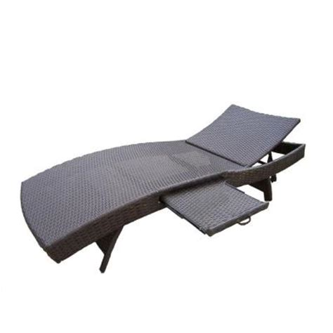 oakland living elite resin patio wicker chaise lounge