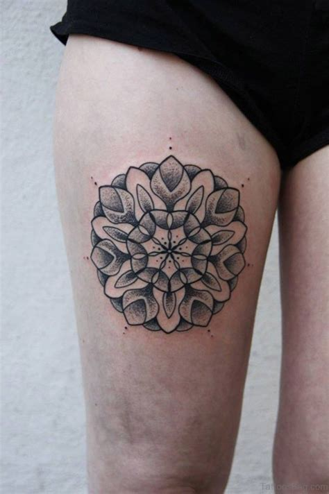 beauteous mandala tattoos designs  thigh