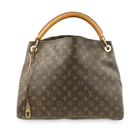 louis vuitton artsy mm monogram brown coated canvas hobo