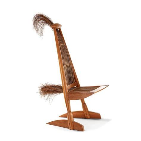 patin de chaise travail américain sculpture chaise formant oiseau stylisé s