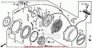 Honda Atc185s 1983 Usa Recoil Starter 185s  200 82