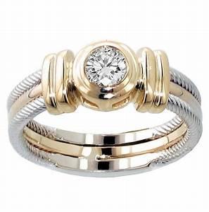 vip jewelry art 025 ct two tone bezel set diamond With wedding anniversary rings