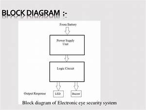 Presentation On Electronic Eye Controlled Security System