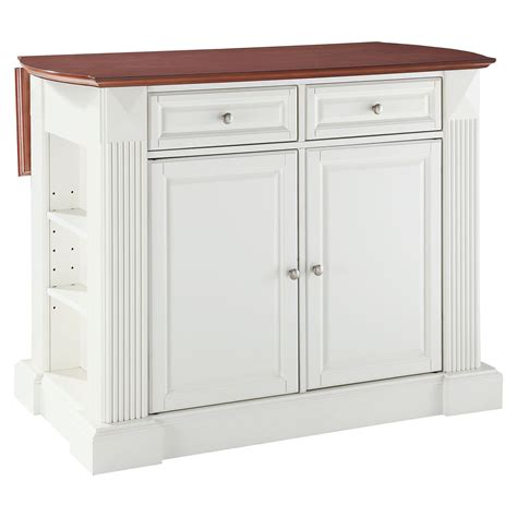kitchen island with leaf drop leaf breakfast bar top kitchen island white dcg 5213