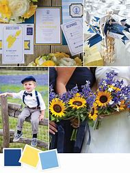 Navy Blue and Yellow Wedding Colors
