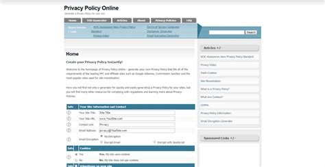 Privacy Policy Generators