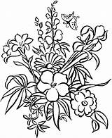 Coloring Flower Pages Detailed Print Pattern sketch template