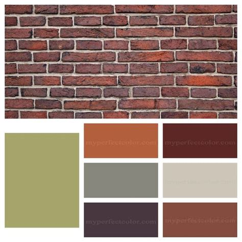 bricks orange brown and accent colors on