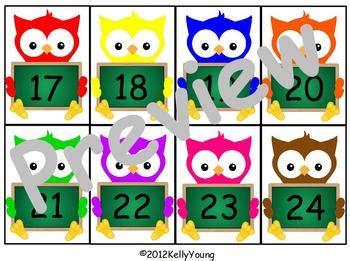 owl number cards  young  lively kindergarten tpt