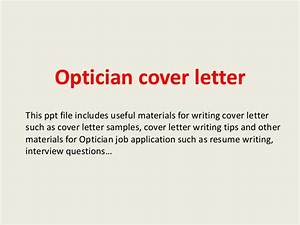 optician cover letter With cover letter for optical assistant