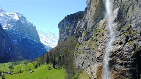 lauterbrunnen switzerland drone dji mavic pro  youtube