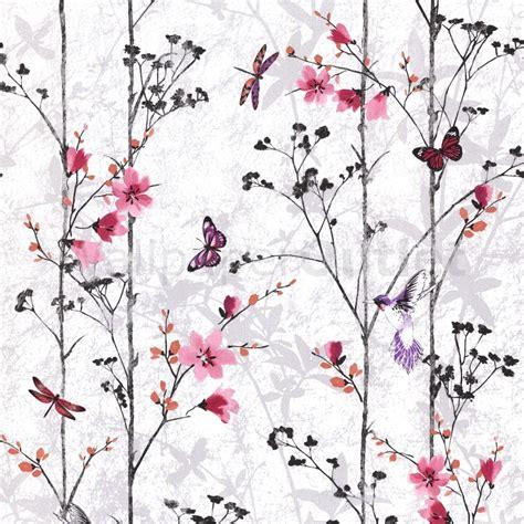 muriva eden butterflies wallpaper pink