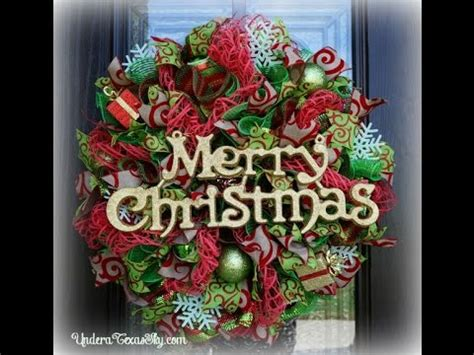 christmas deco mesh wreath youtube