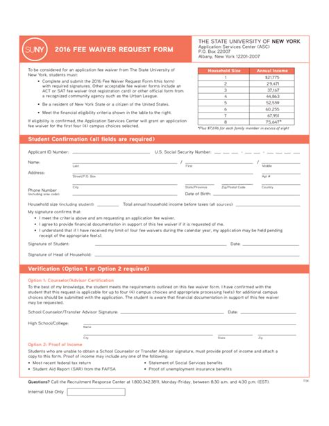 act fee waiver form new york free