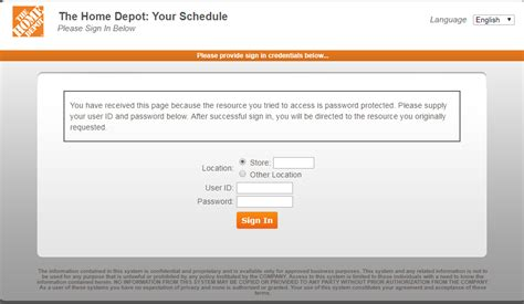 thdhr login home depot schedule login   login