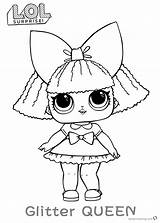 Lol Surprise Coloring Doll Queen Glitter Dolls Printable Diva Pets Kleurplaat Colour Getdrawings Bettercoloring Colora Stampa Characters Pop Dawn Coloringnori sketch template
