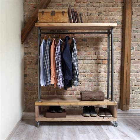industrial style clothing storage unit  cosywood