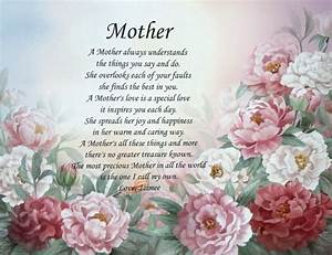 Personalized mother poem pretty gifts for mom birthday ...