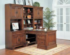 Aspen Home Desk And Hutch by Warm Cherry Executive Modular Home Office Furniture Set