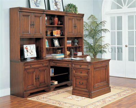 modular desk systems home office aspenhome warm cherry executive modular home office