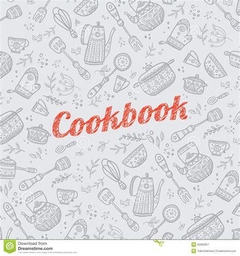 articles de cuisine couverture de livre de cuisine avec des articles de