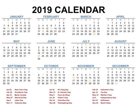 Easy to print, download, and share with others. Download 2019 Printable Calendar | Calendar Template Printable