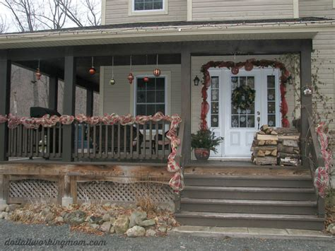 christmas decorating ideas for porch railings christmas container and outdoor decoration ideas do it all working mom