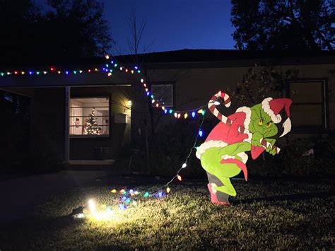 The Grinch Outdoor Decorations - the grinch is stealing my lights