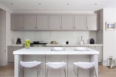 shaker style grey kitchens painted in grey