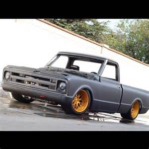 Gold Chevy C10 Black Wheels