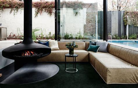 sunken lounge room surrounded   pool