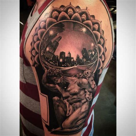 tattoo realistic black  gray chicago fisheye