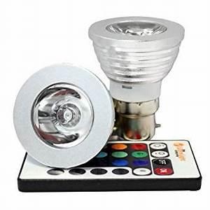 Ampoule Couleur B22 : magie declairage b22 3w rgb couleurs changeantes ampoule ~ Edinachiropracticcenter.com Idées de Décoration